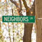 Sign saying Neighbors Lane