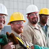 construction workers smiling